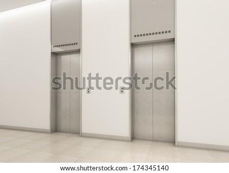 elevators - stock photo