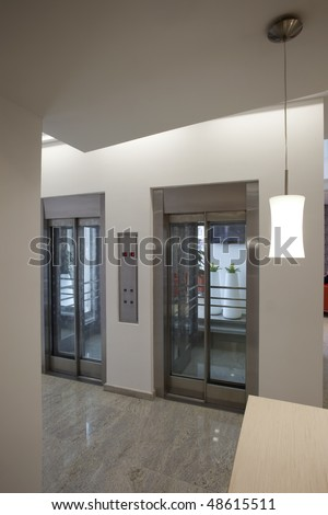 elevators with glass door