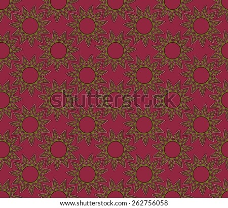 eleven sided mandala designs in a seamless pattern - stock photo