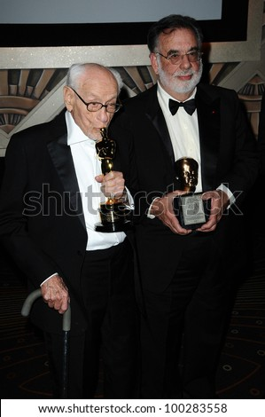 Eli Wallach, Francis Ford Coppola at the  2nd Annual Academy Governors Awards, Kodak Theater, Hollywood, CA.  11-14-10