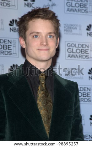 ELIJAH WOODS at the 61st Annual Golden Globe Awards at the Beverly Hilton Hotel, Beverly Hills, CA. January 25, 2004