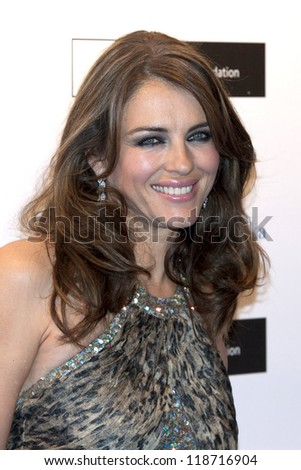 Elizabeth Hurley arriving for the Grey Goose Ball 2012, Battersea Power Station, London. 10/11/2012 Picture by: Simon Burchell