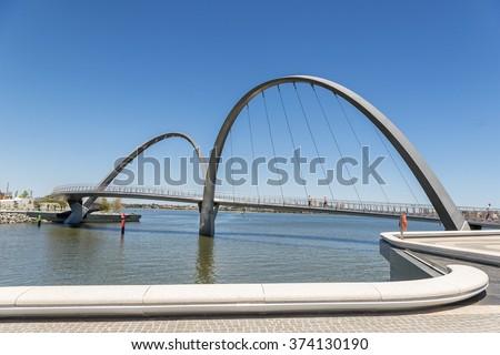Elizabeth Quay on Perths waterfront - stock photo