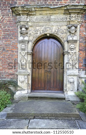 Elizabethan Door Kingu0027s Manor York England & Elizabethan Door Kings Manor York England Stock Photo (100% Legal ...