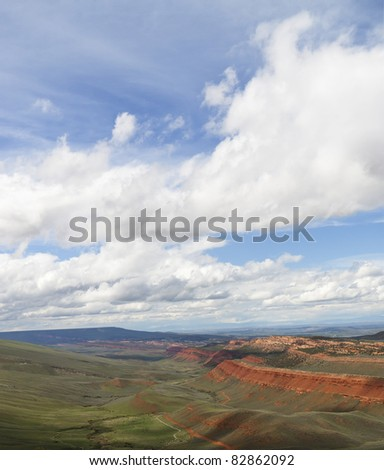 Elk Valley Wyoming - stock photo