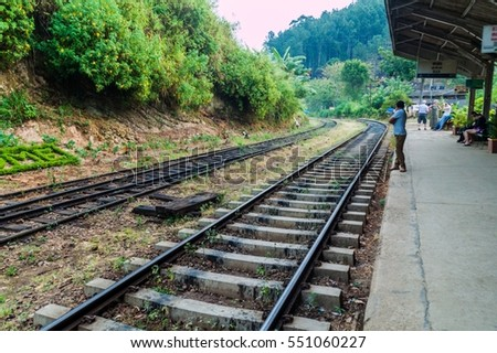 ELLA, SRI LANKA - JULY 15, 2016: Railway station in Ella village.