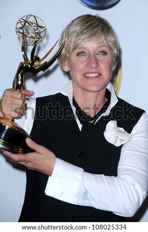 Ellen DeGeneres  in the press room at the 35th Annual Daytime Emmy Awards. Kodak Theatre, Hollywood, CA. 06-20-08 - stock photo