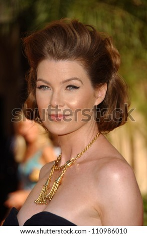 Ellen Pompeo  arriving at the 59th Annual Primetime Emmy Awards. The Shrine Auditorium, Los Angeles, CA. 09-16-07 - stock photo