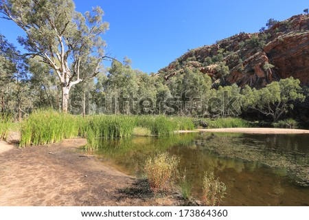 Ellery Creek Big hole in West Mac Donnell Range, Australia - stock photo