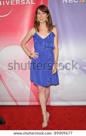"Ellie Kemper - star of ""The Office"" - at NBC Universal TV Summer Press Tour Party in Beverly Hills.  July 30, 2010  Los Angeles, CA Picture: Paul Smith / Featureflash - stock photo"
