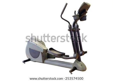 Elliptical cross trainer in a gym  - stock photo