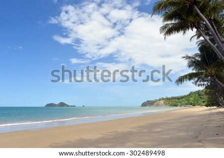 Ellis Beach, Cairns, Great Barrier Reef, Queensland, Australia -1  - stock photo