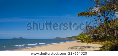 Ellis beach near Cairns in Queensland Australia - stock photo