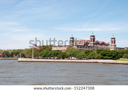 Ellis Island - stock photo