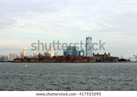 Ellis Island and South of Manhattan in New York City