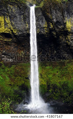 Elowah Falls, Oregon - stock photo