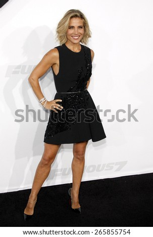 Elsa Pataky at the Los Angeles premiere of 'Furious 7' held at the TCL Chinese Theatre IMAX in Hollywood, USA on April 1, 2015.  - stock photo