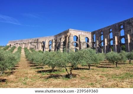 Elvas Aqueduct  - stock photo