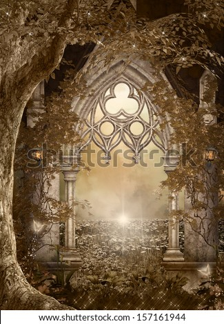 Elves entrance - stock photo