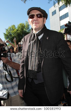 Elvis Costello at the Paul McCartney Star on The Hollywood Walk Of Fame Ceremony, Hollywood, CA 02-09-12