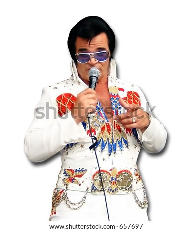 Elvis impersonator in Las Vegas, Nevada