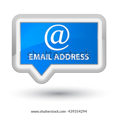 Email address cyan blue banner button