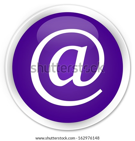 Email address icon purple button - stock photo