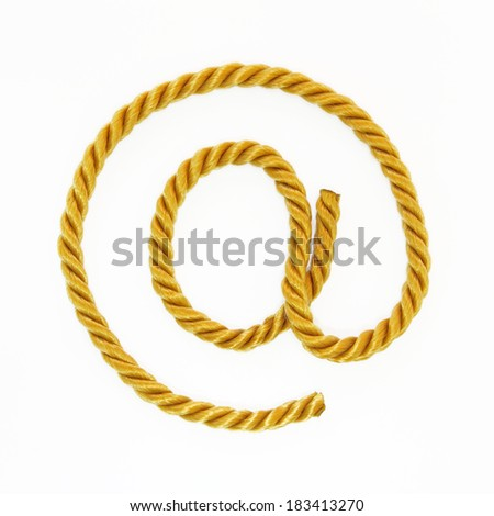 Email address with gold rope