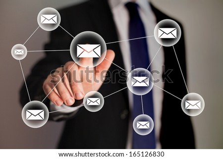 email and business technology - stock photo