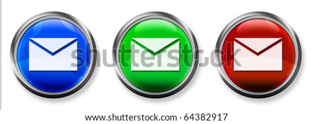 Email 3-D RGB Buttons - stock photo