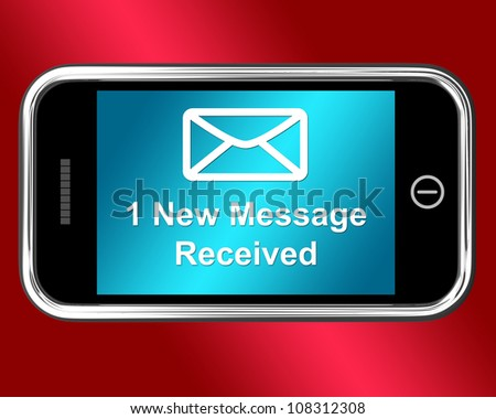 Email Envelope On Mobile Phone Showing Message Received