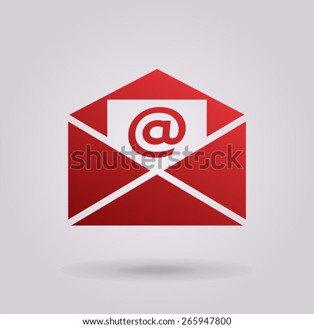 Email icon. - stock photo