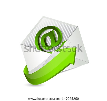 email. mail. contact us illustration design over a white background - stock photo