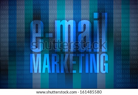 email marketing sign over a binary background illustration design graphic