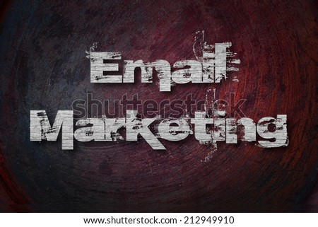 Email Marketing Text on Background - stock photo