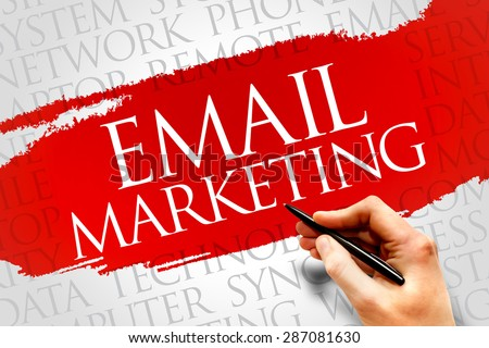Email Marketing word cloud concept - stock photo