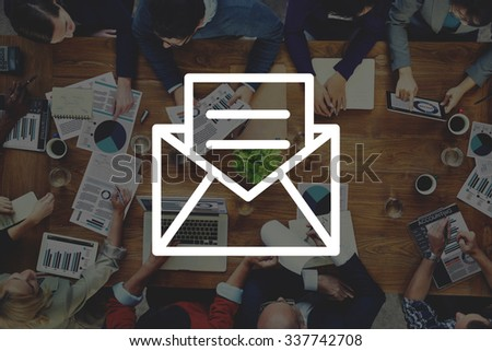 Email Message Icon Communication Letter Concept - stock photo