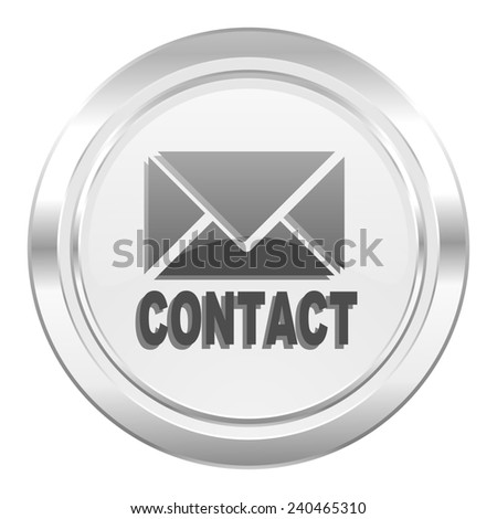 email metallic icon contact sign  - stock photo