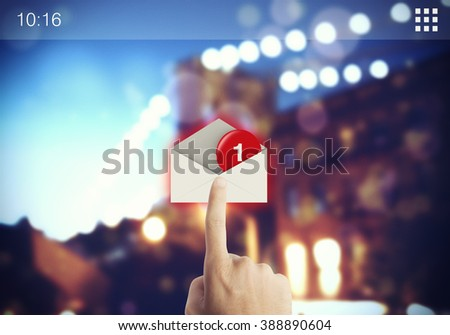 Email on screen - stock photo