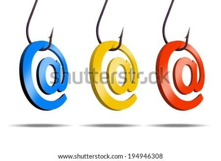 email phishing                      - stock photo