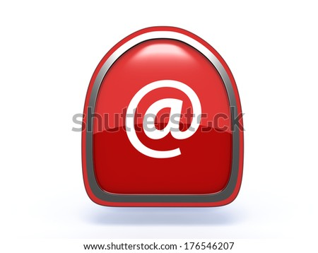 Email pick icon on white background
