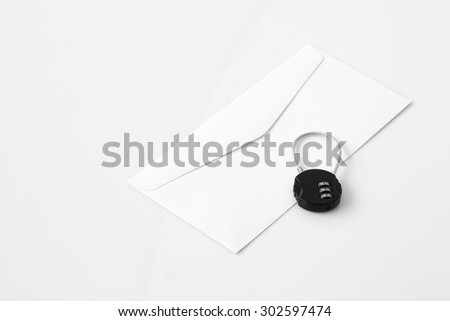 email security password - stock photo