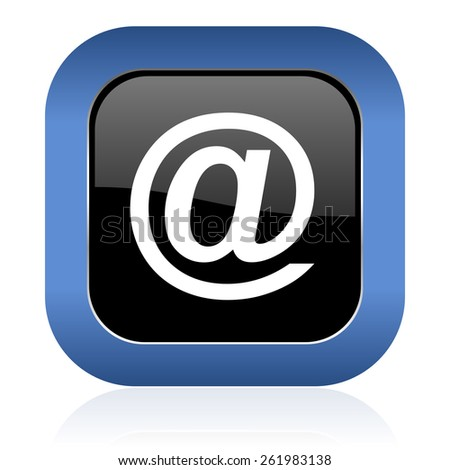 email square glossy icon  - stock photo