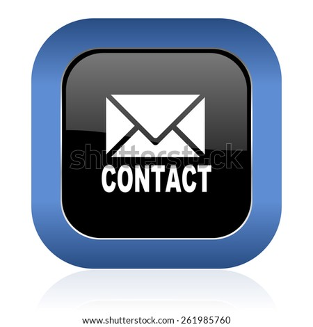 email square glossy icon contact sign - stock photo