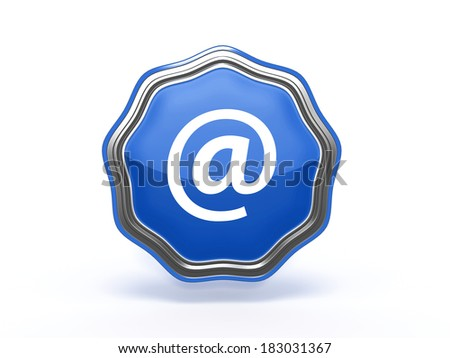 Email star icon on white background