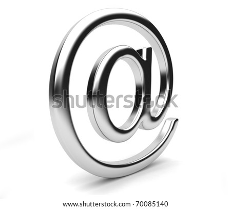 Email symbol 3D. Isolated on white background - stock photo