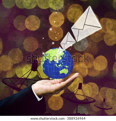 Email technology, Communication concept - stock photo