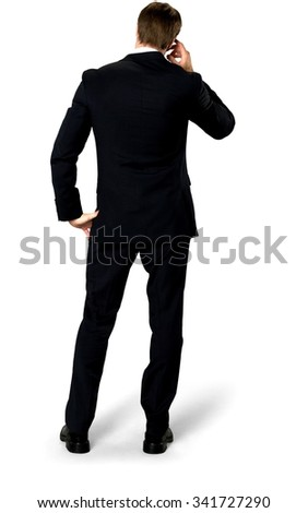 Embarrassed Caucasian man with short medium blond hair in business formal outfit with hands on face - Isolated