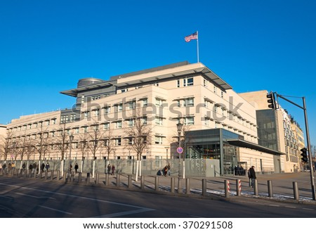 Embassy of the United States in Berlin Germany - stock photo