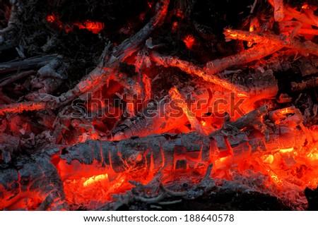 Ember glow - stock photo